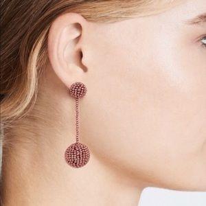 Madewell Metallic Copper Dropball Earrings